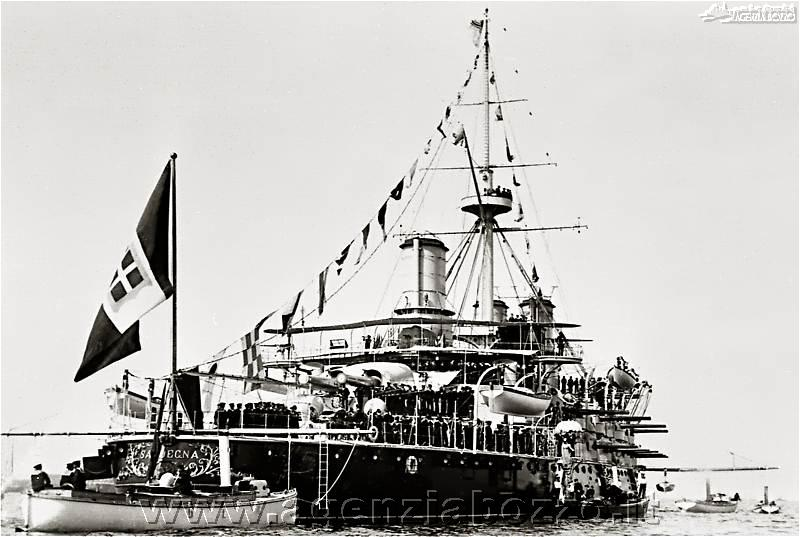 Navi da guerra rn sardegna 1890 corazzata alla cerimonia for Nave sardegna
